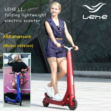 LEHE L1 folding lightweight electric scooter, mini scooter, music version scooter
