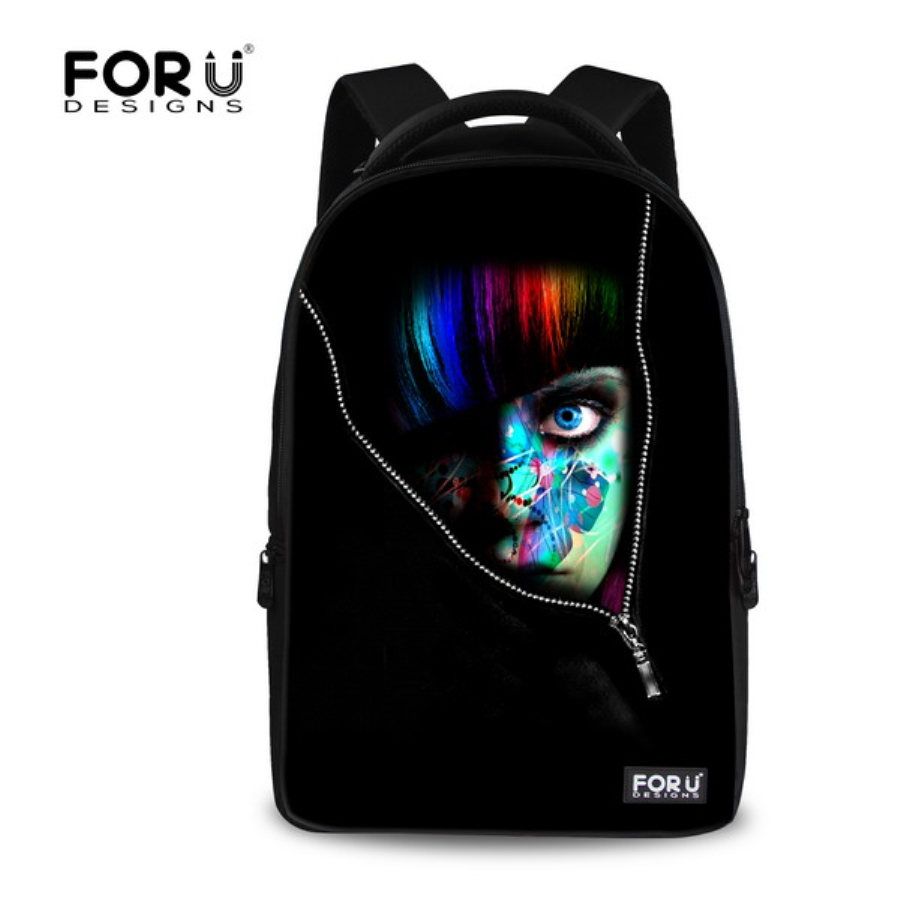 Black Girl backpacks Children School bags Casual Womens backbag Monster Girls Printing Ladies Backpack Mochila Travel Backpack