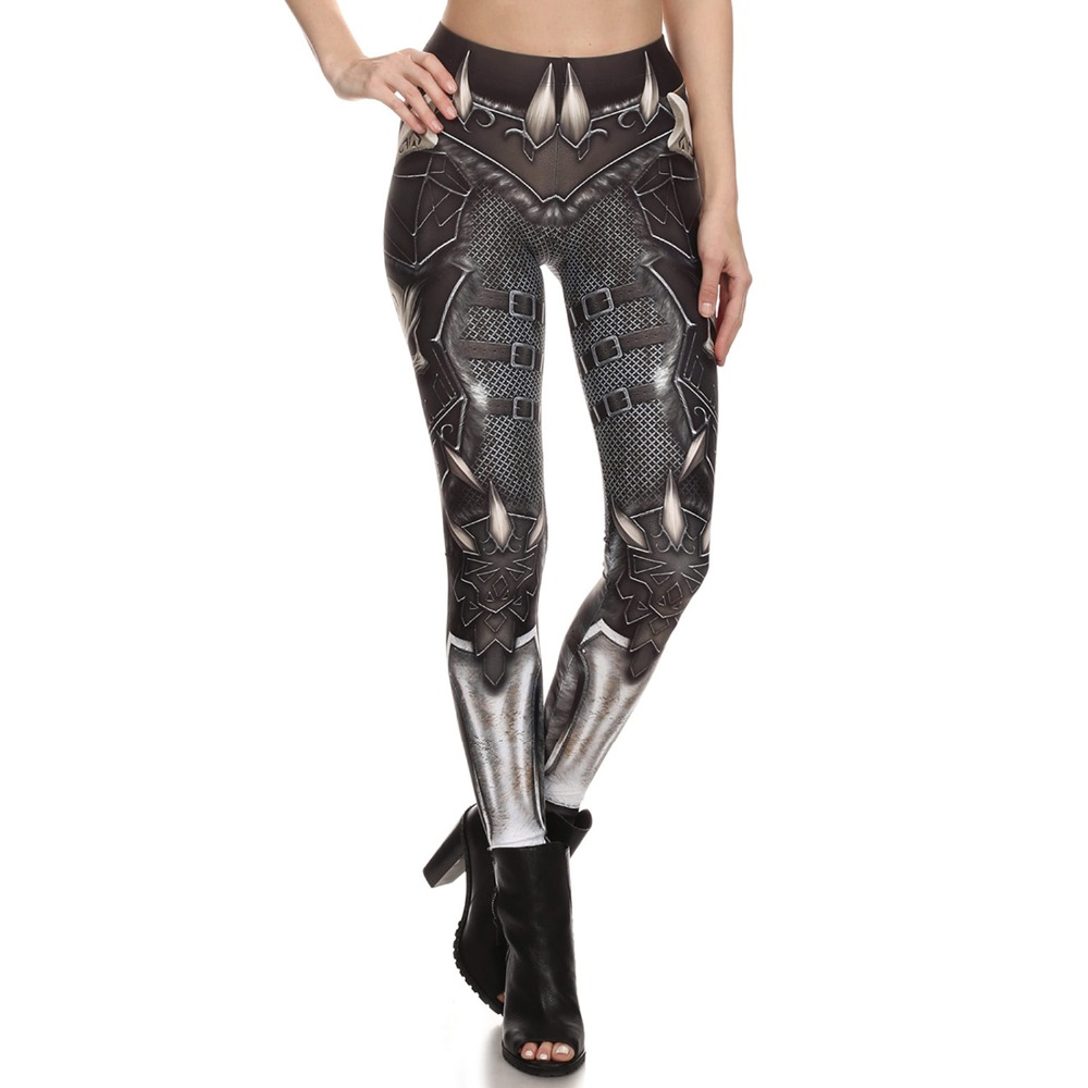 Skeleton Armor Pattern Leggings 3D Print Fitness Leggings Women Sexy Slim Legging Elastic Causal Leggings Leggins Mujer