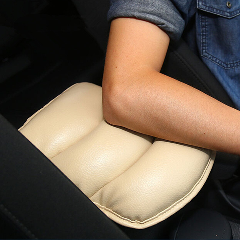 Car Armrests Cover Arm Rest Seat Box Pad Protective Case Soft PU Mats For Toyota Yaris Camry Corolla Highlander Avensis Rav4 пони с наклейками