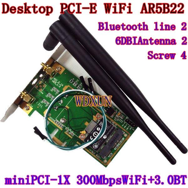 2db asztali adapter Antenna Atheros AR5B22 vezeték nélküli N + - Hálózati berendezések