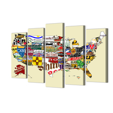 5 Piece Canvas Painting Wall Pictures Map World Beer New What Is The Best Beer City In America Of Map World Beer Home Art Abooly