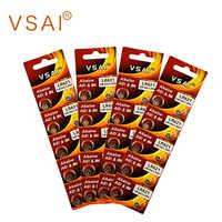 VSAI 40 stücke/4 packs AG1 364 SR621 Alkaline Knopfzelle Batterien Für Uhr Thermometer MP3 1,5 V