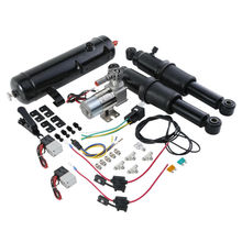 Motorcycle Rear Air Ride Suspension w/ air tank For Harley Touring Bagger Road Electra Street Glide Models 94-18 16