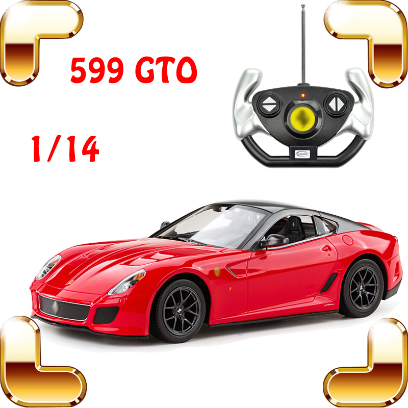 New Year Gift 1/14 F599 GTO RC Roadster Car Remote Control Toy Model Speed Racing Road Crash Drift Radio Control Toys gto 14 days in shonan vol 5