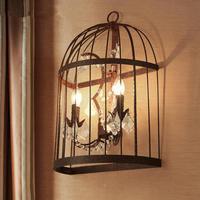 Ретро промышленный птичья клетка бар освещение большой деревенский Железный настенный светильник бра для кафе Арт студия коридор светодио