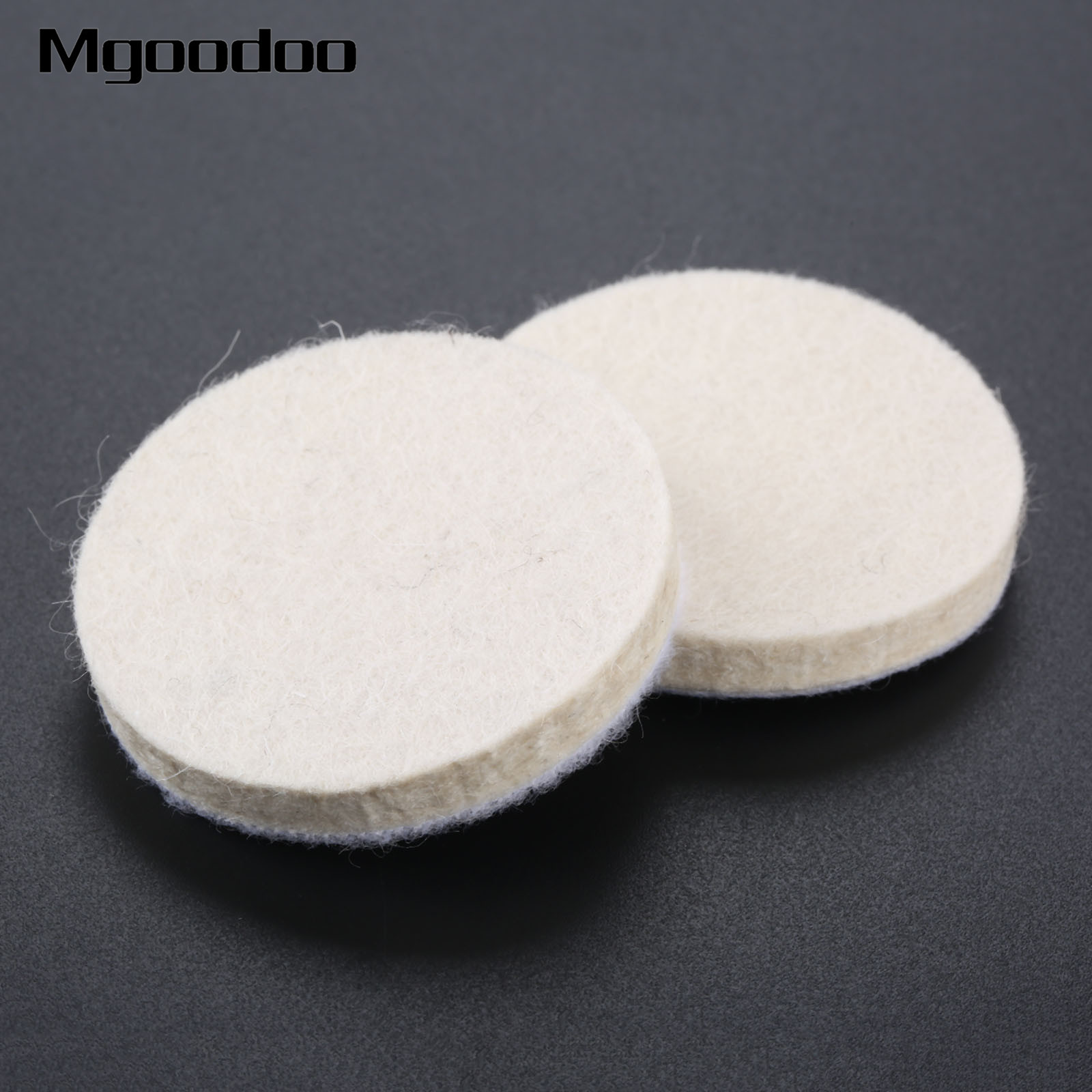 2Pcs 2 Inch 50mm Round Plush Wool Polishing Wheel Disk Sheets Pads Car Buffing Wax For Car Cleaning Metals Glass Polishing