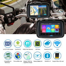 Fodsports ipx7 водонепроницаемые moto rcycle навигации 5 дюймов moto автомобиля gps Wi-Fi, 16G moto rbike навигатор android 6,0 FM 3000 мАч батарея