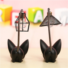 Lovely Clamp Lamps Cat Toroto Accompanied With House Cartoon Resin Figures Desk Decor Night Light Lamp Cute Student Study Gift