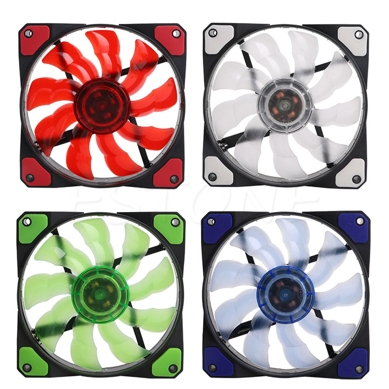 CPU Cooler Cooling <font><b>Fan</b></font> with LED Light 3-Pin/4-Pin <font><b>120mm</b></font> <font><b>PWM</b></font> PC Computer Case New hot image