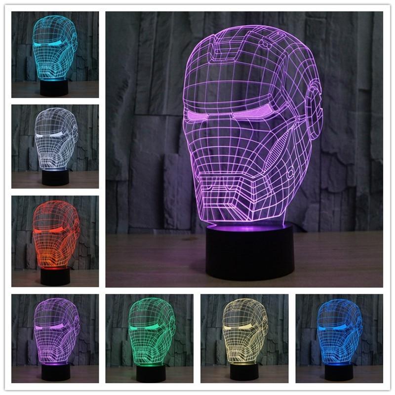 Neuheit 3D Decor Bulbing Nachtlicht Iron Man Modell Maske Spielzeug Gadget Led  Beleuchtung Hause Tischlampe Nachtlicht Für Kind Geschenk In Neuheit 3D  Decor ...