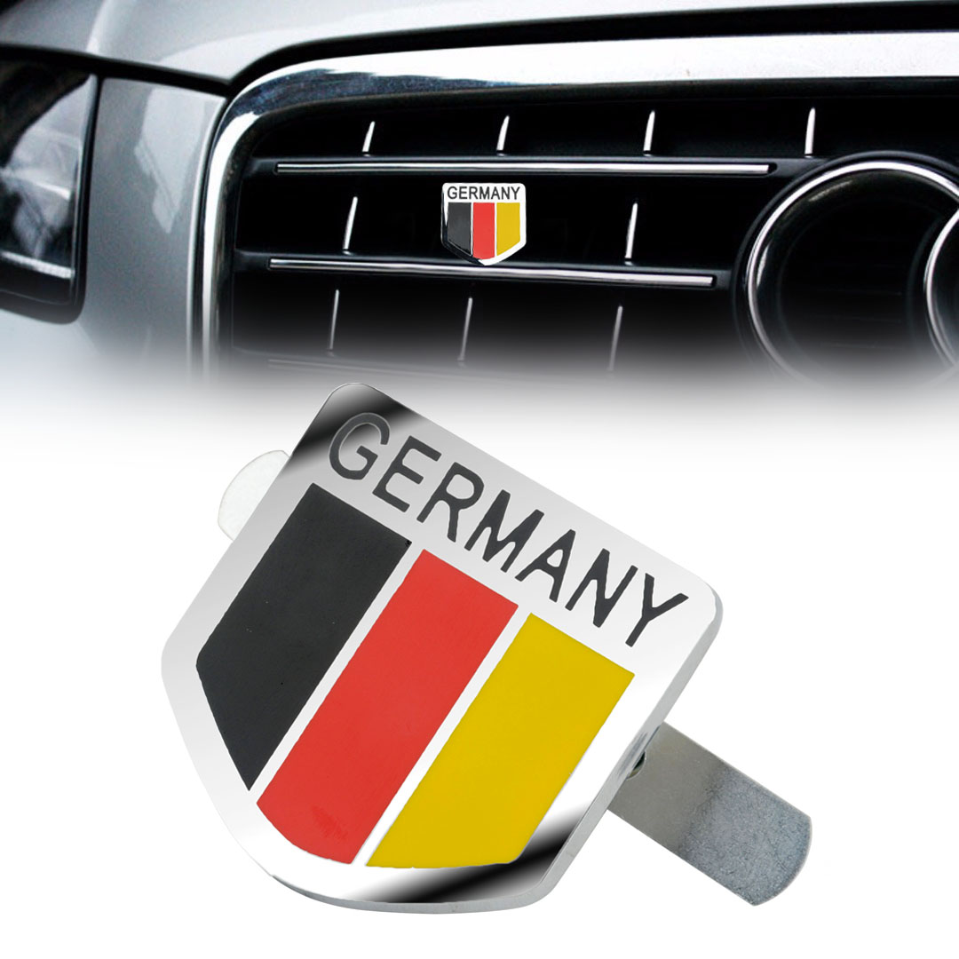 MAYITR Car styling Metal Germany German Flag Logo Emblem Sticker Car Front Grill Grille Badge Decal Stickers with Accessories 3d ss car front grille emblem badge stickers accessories styling for jaguar honda chevrolet camaro cruze malibu sail captiva kia