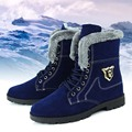 Totem Esquelético del Estilo de la Moda Caliente de Cuero Botas de Los Hombres Cómodos de Algodón Zapatos de Nieve Botines de Invierno Para Hombre Zapatos de Marca Botas de Nieve