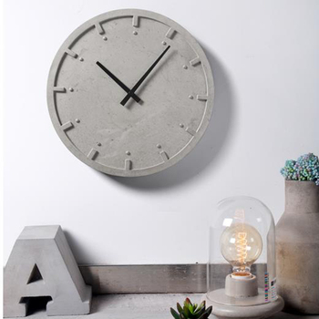 The creative personality of modern minimalist three-dimensional geometric texture relief concrete  clock silicone mold
