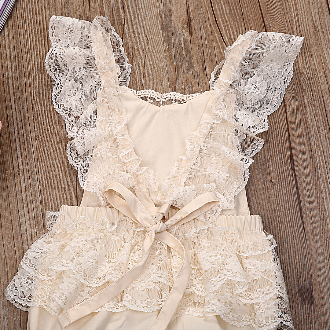 265ca2d1a64d 2017 New summer baby romper Girl s princess white lace Romper baby clothes  Newborn Backless Jumpsuit-in Rompers from Mother   Kids on Aliexpress.com  ...