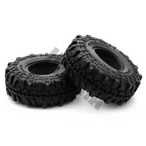 "Image 5 - 4PCS 1.9"" Rubber Tyre / Wheel Tires for 1:10 RC Rock Crawler Axial SCX10 90046 AXI03007 Tamiya CC01 D90 D110"