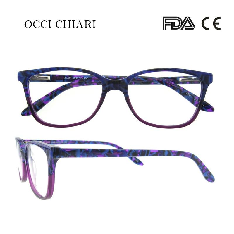 OCCI CHIARI Hand Made For Women Brand Designer Prescription Nerd Lens Medical Optical Glasses Frame Purple W-CERIATI