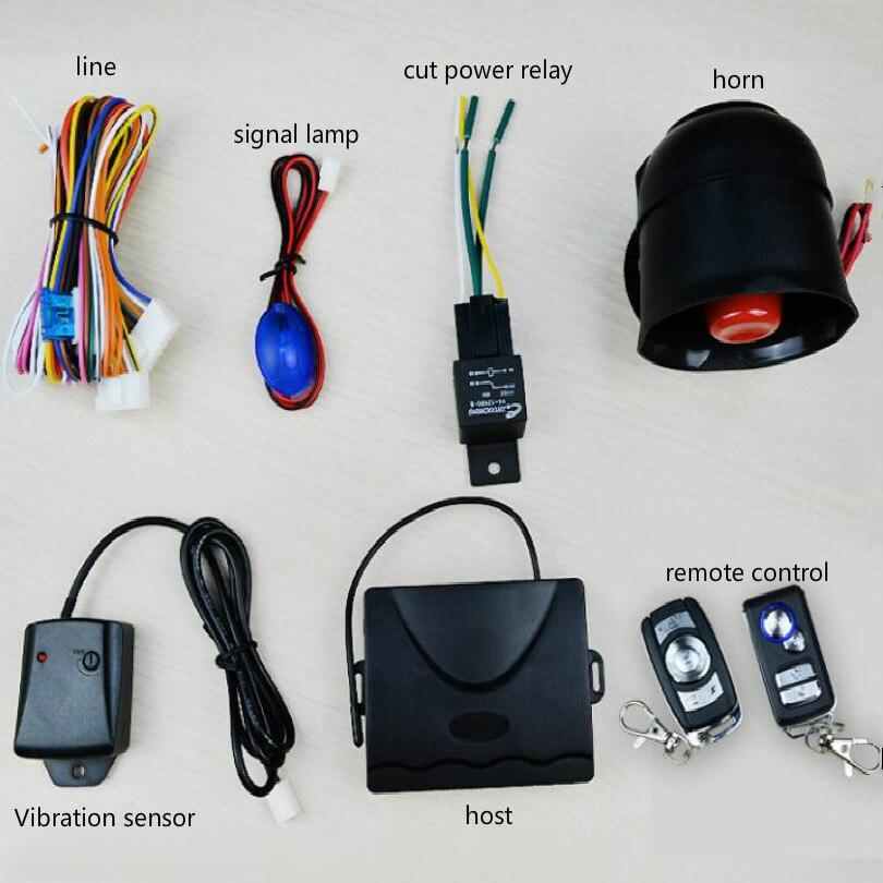 12 v alarme de voiture système alarma auto verrouillage central alarme de carro automatique d'alarme avec télécommande anglais instructions