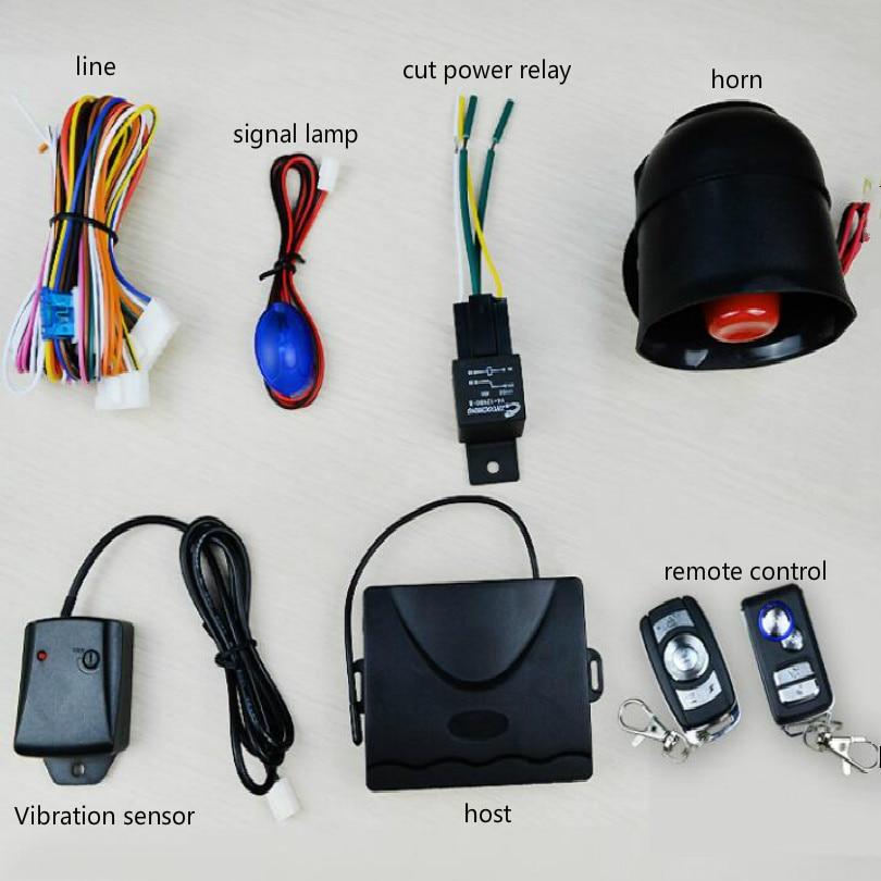 Système d'alarme de voiture 12 v alarme de verrouillage central automatique alarme de carro alarme automatique avec télécommande instructions en anglais