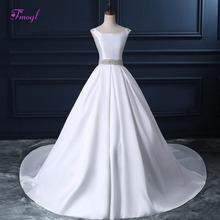 Fsuzwel Glamorous Court Train Wedding Dresses 2019 A-line