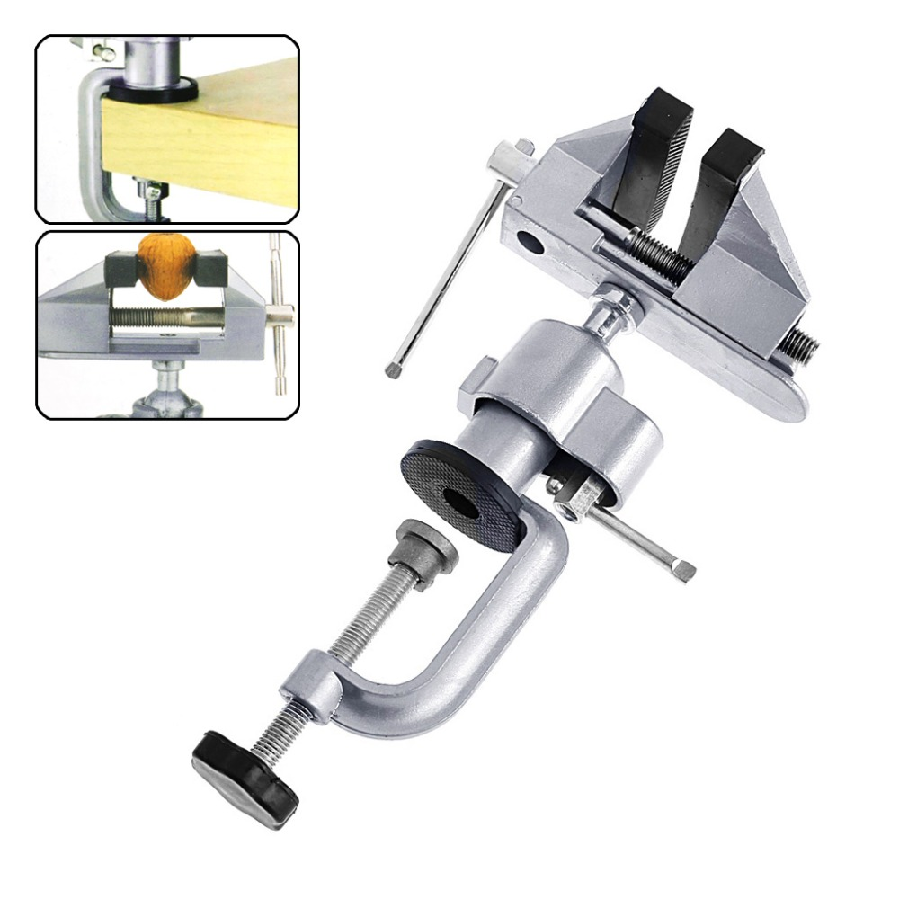 Mini Bench Vice Part - 16: Mini Vise Tool Aluminum Small Jewelers Hobby Clamp On Table Bench Vice  Lathe New 2017(