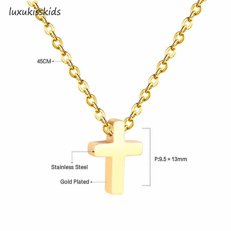 LUXUKISSKIDS wisiorki serca naszyjniki naszyjnik choker ze stali nierdzewnej Link Chain złoty kobiety/mężczyźni naszyjnik zestaw modna biżuteria collares collier