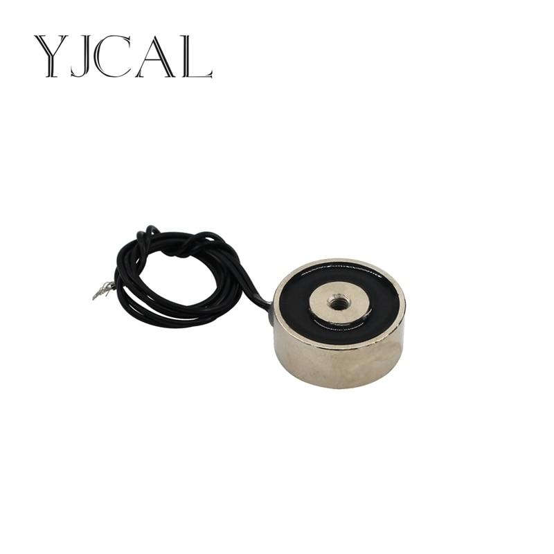 YJ- 45/30 DC 12V 24V Circular Micro Holding Electric Magnet Lifting 35KG Solenoid Sucker Electromagnet