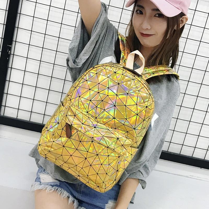 HTB1W5A9XjzuK1RjSspeq6ziHVXaT Large Travel Bags Laser Backpack Women Men Girls Bag PU Leather Holographic Backpack School Bags for Teenage Girls fashion bag
