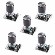 Diymore 5 шт./лот KY-040 поворотный модуль датчика с 15x16,5 мм Вращающаяся ручка потенциометра крышка для Arduino