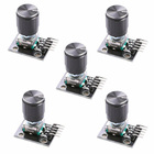 diymore 5PCS/Lot KY-040 Rotary Encoder Module with 15x16.5 mm Potentiometer Rotary Knob Cap for Arduino