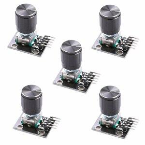 Diymore 5 шт./лот, модуль роторного датчика с потенциометром 15x16,5 мм, колпачок поворотной ручки для Arduino