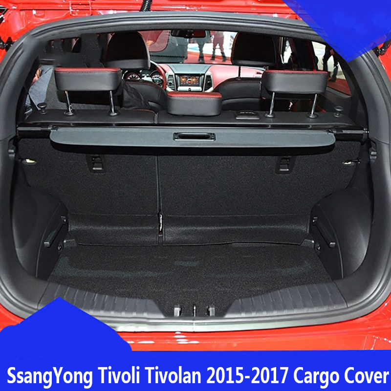 цена на For SsangYong Tivoli Tivolan 2015 2016 2017 Rear Cargo privacy Cover Trunk Screen Security Shield shade covers(Black, beige)