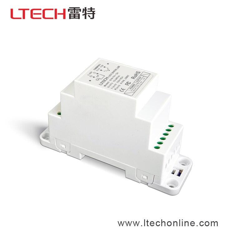 DIN-711-12A; DIN-Rail 1-10 V LED pilote de gradation; entrée de DC12-24V; sortie 12A * 1CH; 0-10 V, 1-10 V, 10 V PWM ou bouton poussoir