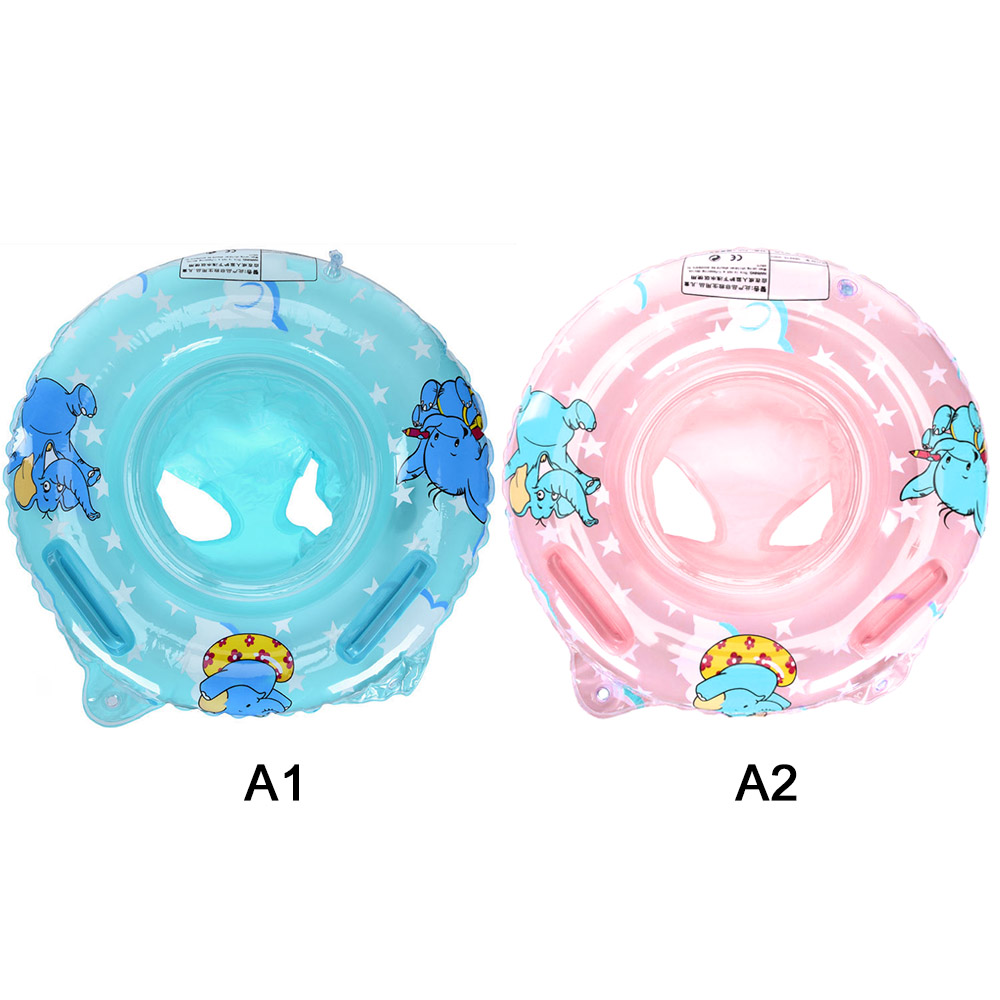 Outdoor Summer Swimming Ring Double Handle Safety Baby Seat Float Swim Ring Inflatable Infant Water Toys Swim Circle