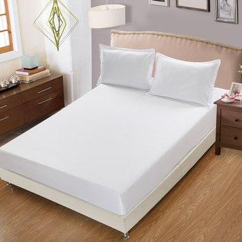 1 шт., 100% полиэстер, одноцветные простыни для матраса, простыни для кровати с эластичной лентой, защитный чехол для отельного матраса