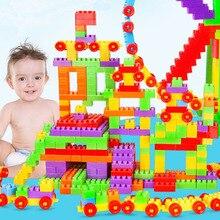 DIY Colorful City House Roof Big Particle Building Blocks Castle Educational Toy for Children Compatible Puzzle Toy цены