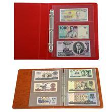 4b5234060 10 piezas billetes de dinero de papel álbum de dinero página recogida  titular de mangas 3-Ranura suelto de la hoja de álbum de d.