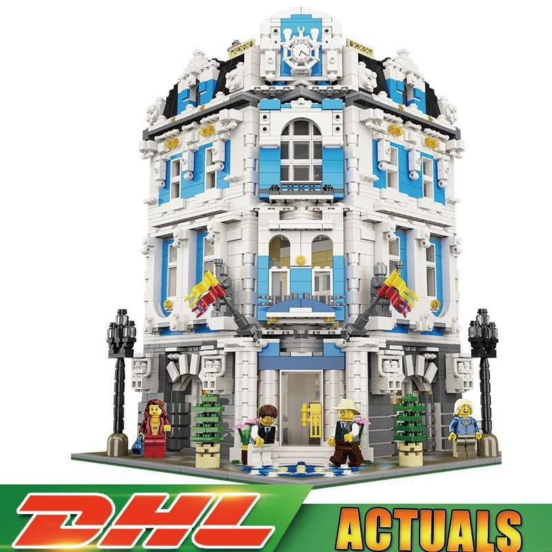 2018 New Creative 3196pcs Lepin 15018 MOC City Series The Sunshine Hotel Set Building Blocks Bricks Educational Toys Legoings lepin 15018 3196pcs moc city series the sunshine hotel set building blocks bricks educational toys