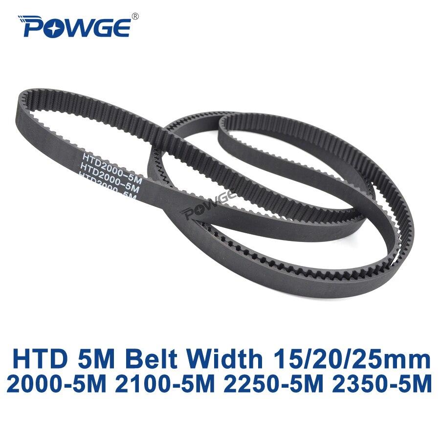 POWGE HTD 5M synchronous Timing belt C=2000/2100/2250/2350 width 15/20/25mm Teeth 400 420 450 470 HTD5M 2000-5M 2100-5M 2250-5M powge htd 5m timing belt c 180 190 200 205 width 15 20 25mm teeth 36 38 40 41 htd5m synchronous belt 180 5m 190 5m 200 5m 205 5m