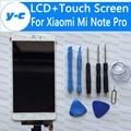 Para xiaomi mi note pro display lcd + de tela de toque new chegou 2 k painel de digitador de vidro substituição da tela para 2560x1440 5.7 polegada