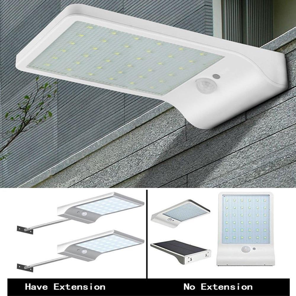 Ultra Thin LED Porch Lights Solar Garden light Wall lamp waterproof PIR Motion Sensor Solar Lamp for Outdoor Decoration lighting