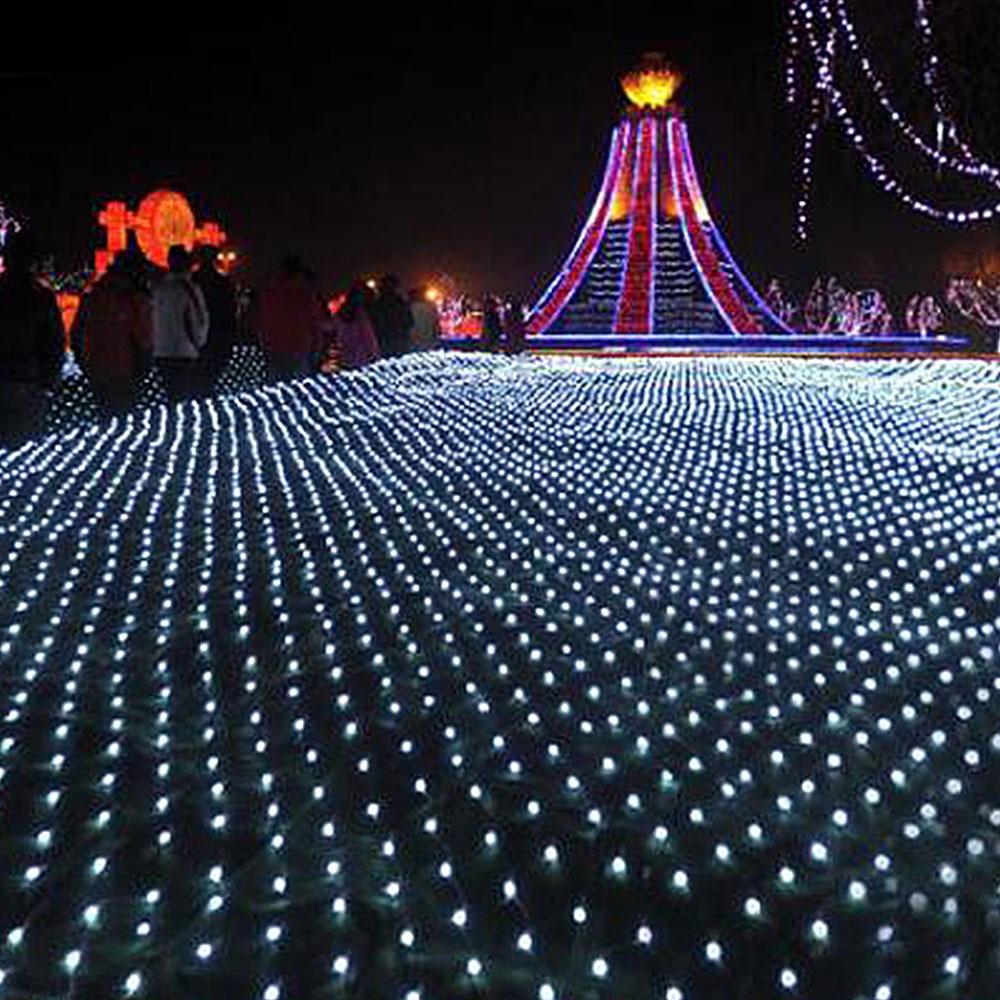 Mesh LED Lights 220V Holiday Wedding Party Outdoor String Lights Chain Decoration Garden Lamp Fairy Lights Net Garland slingers (7)
