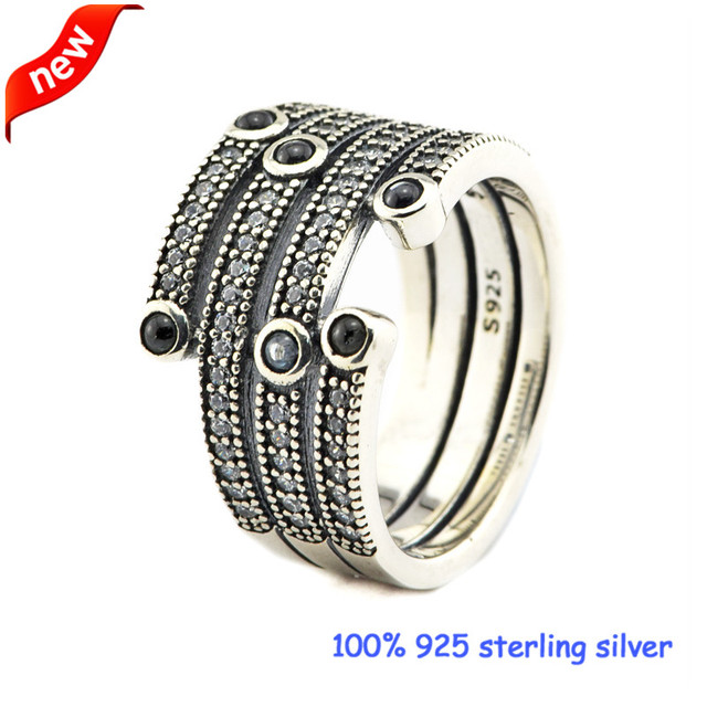 2016 New Shimmering Ocean Silver Rings with Frosty Mint & Clear CZ 100% 925 Sterling Silver Jewelry Women Jewelry DIY 08R093