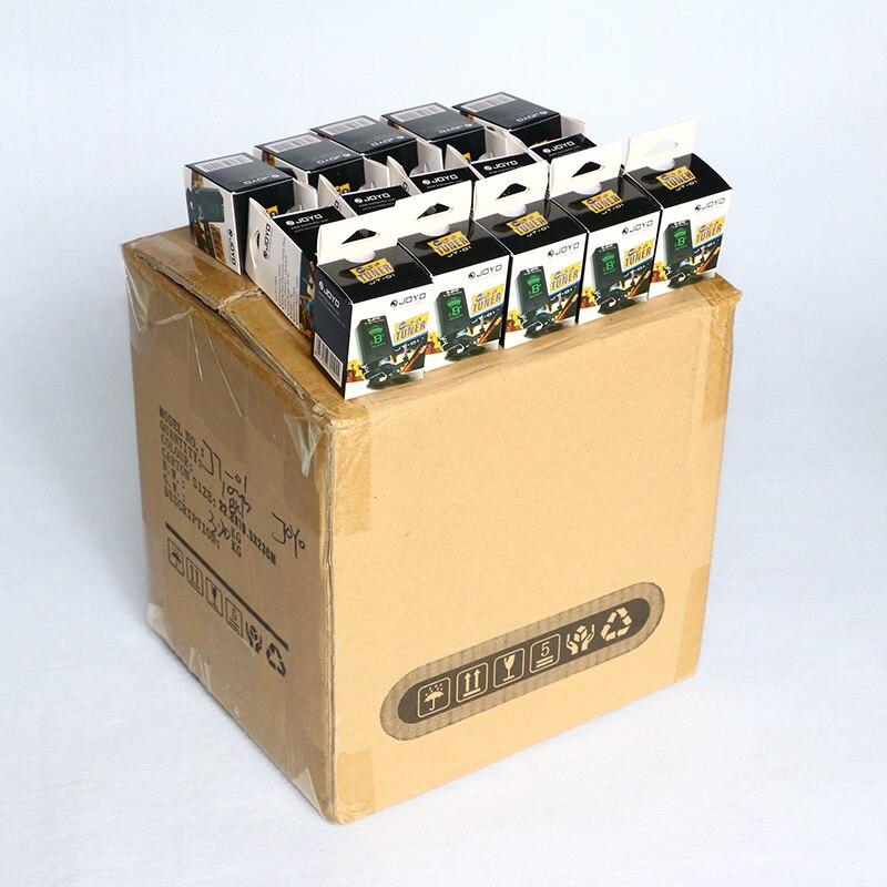 100 pcs / carton JOYO JT 01 Tuner for Guitar, ukulele, Violin, Bass and Chromatic Mini Digital LCD MusicInstrument Free Shipping