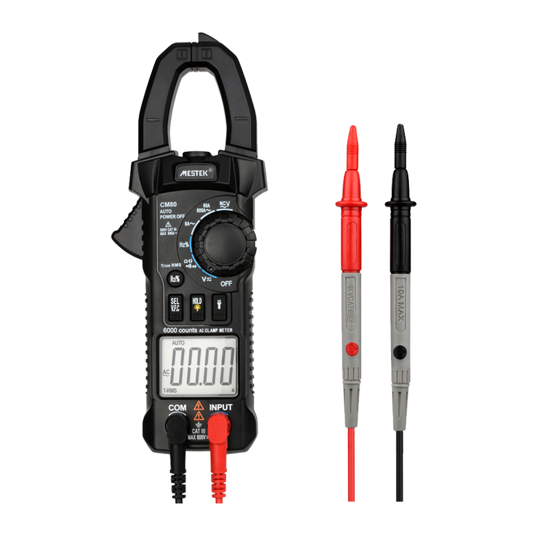 MESTEK Digital Clamp Meter Multimeter Current Clamp Pincers AC/DC Voltage Resistance Tester Measuring Tools Diagnostic-Tool CM80