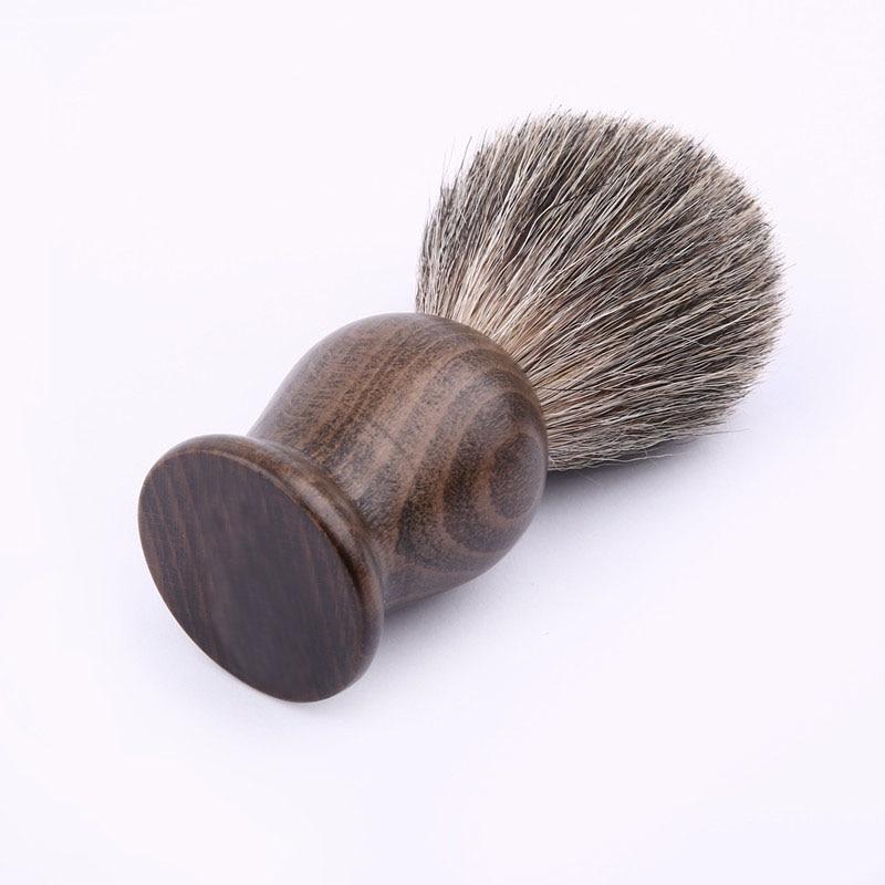 Mænd Barbering Badger Hår Barbering Børste Håndlavet Badger Slivertip Børster Wood HandleShaving Børste