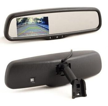 OEM style 4.3 inch HD Car Parking Rearview Mirror Monitor for a Rerview Camera+ Bracket case for TOYATA NISSAN HONDA original OE