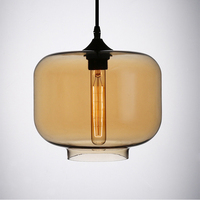E27 AC 110V 220V Modern Hanging 7 Colorful Glass Pendant Lamps Modern With Led Lights Cord