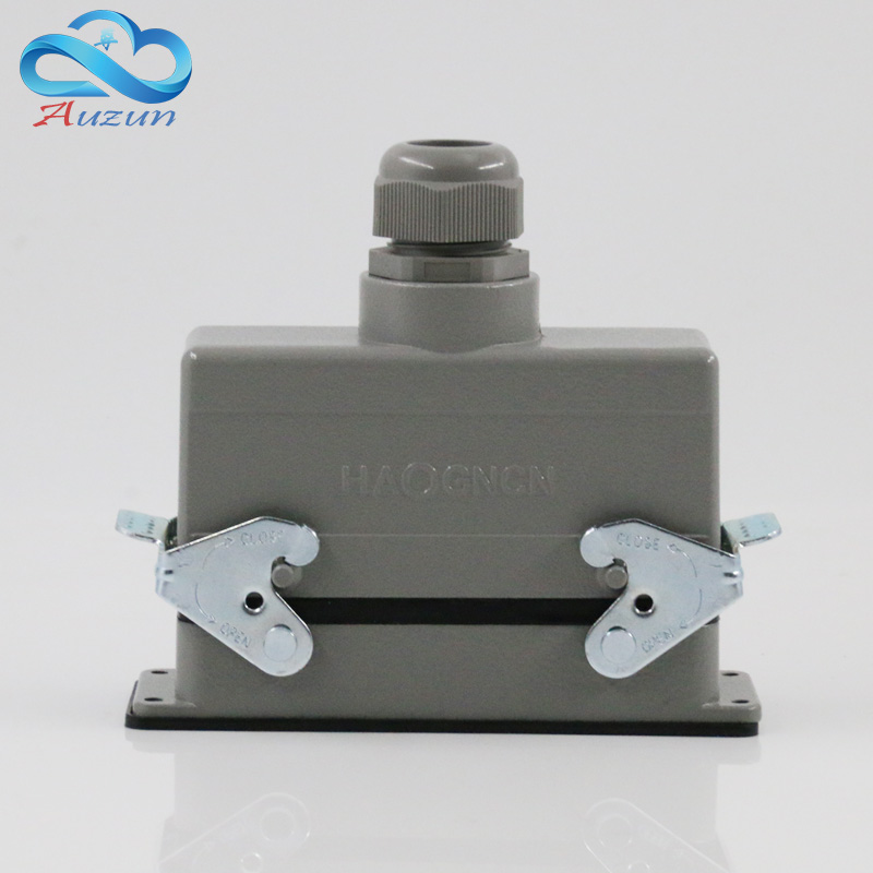 H24B - HE - 024-2 rectangular heavy air 24 pin connectors plug at the top of the line 16 a500v screw feet heavy duty connectors hdc he 024 1 f m 24pin industrial rectangular aviation connector plug 16a 500v