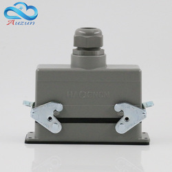 H24B - HE - 024-2 rectangular heavy air 24 pin connectors plug at the top of the line 16 a500v screw feet